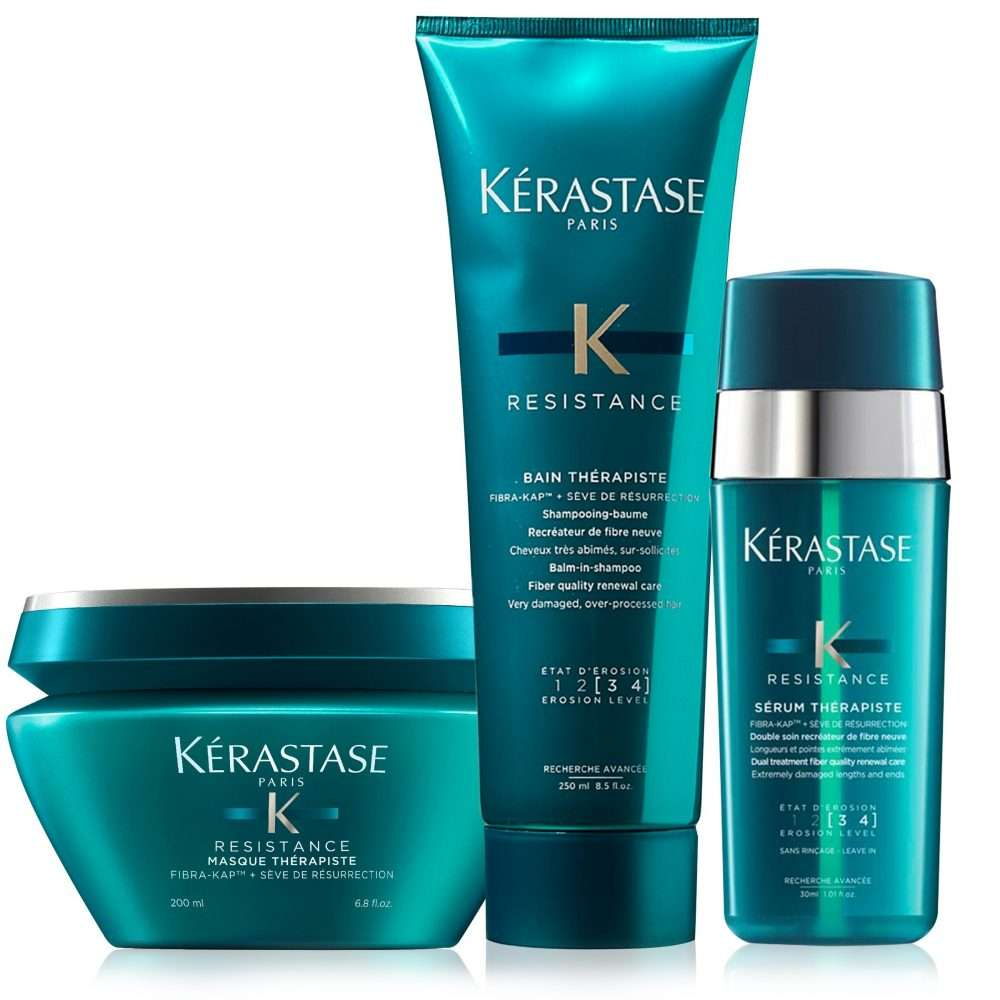 3517 kerastase therapiste damaged hair deep treatment hair care set v02